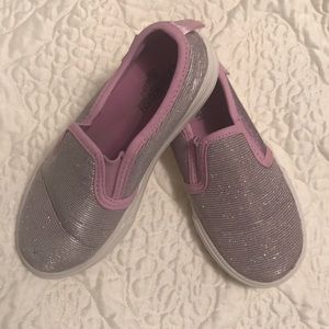 Shoes - Sparkly purple slip on, cute and comfy!